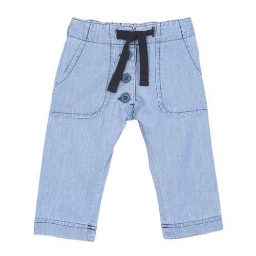 Pantalon chambray doux bleu jean