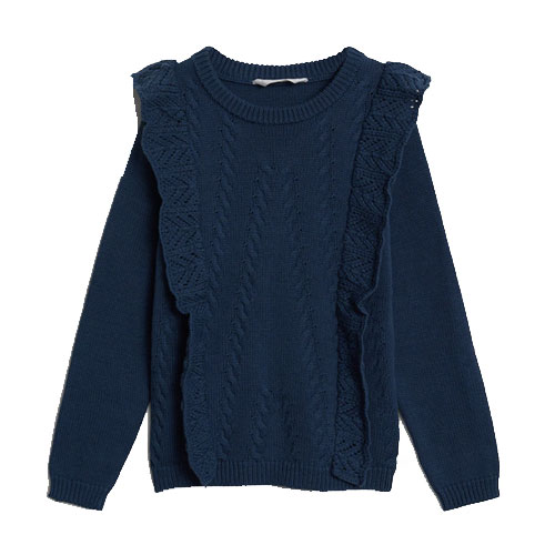 Pull-over maille volants