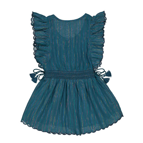 Robe Louisa bleu pétrole