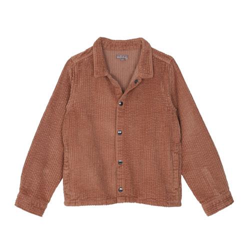 Sur-chemise velours caramel