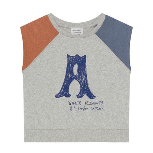 T-shirt coton bio gris chiné
