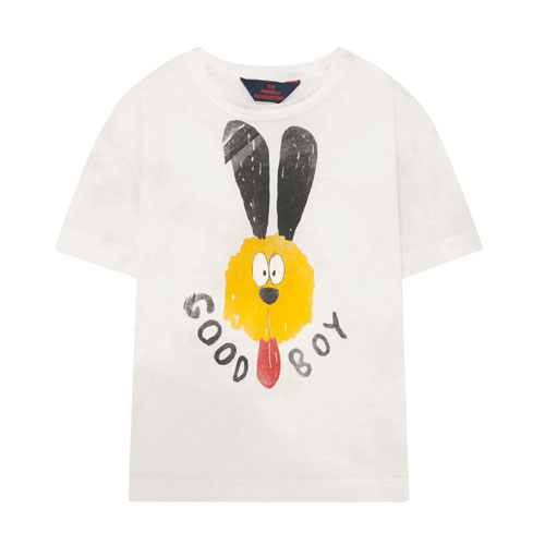 T-shirt Rooster Good Boy blanc