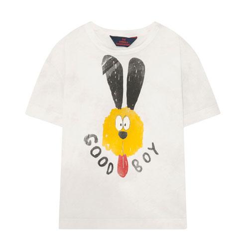 T-shirt Rooster Good Boy blanc