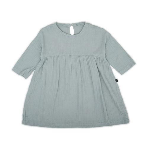 Robe Luna Coton Bio Bleu