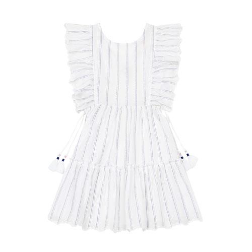 Robe Lurex Amol Blanc