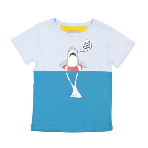T-shirt Requin Bleu