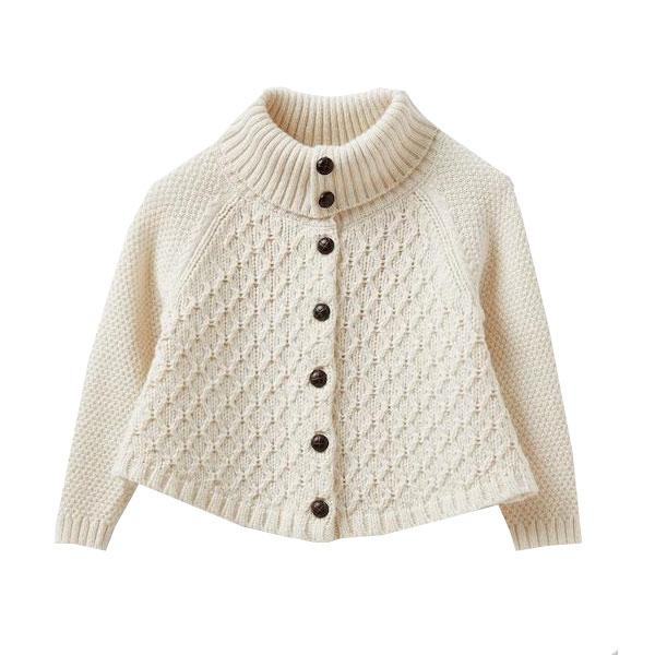 Gilet cape en tricot