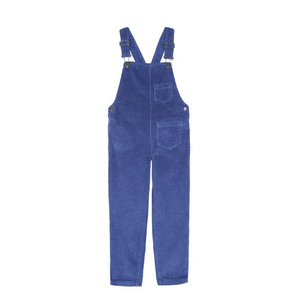 Salopette velours bleu