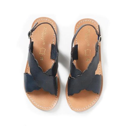 Sandales maxi bride en cuir