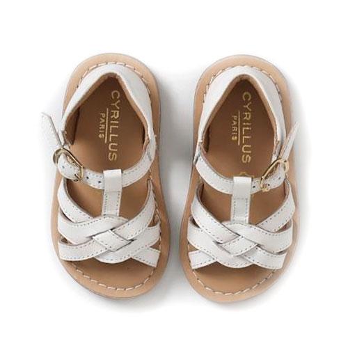 Sandalettes croisées