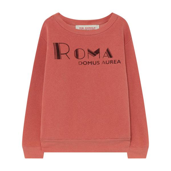 Sweat Roma Bear rouge délavé