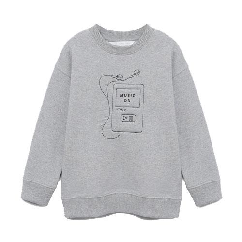 Sweat-shirt coton bio détail brodé