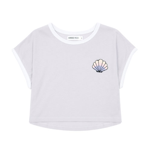 T-shirt Coquillage lilas