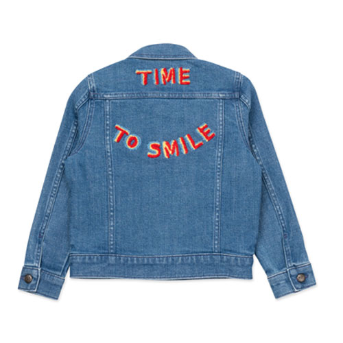 Veste denim brodée