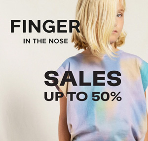 Soldes Finger in the nose
